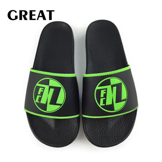 Greatshoe 2019 Black Beach Slide Sandal PVC Sport Adult Slide Slipper Footwear Man OEM Custom Logo Slide Sandal pictures & photos