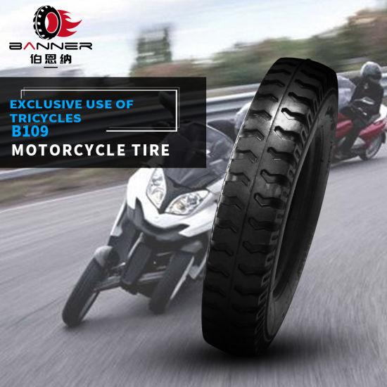 20 Years ISO9001 Factory Excellent Quality Three-Wheel High Quality Motorcycle/Motor Tubeless/Tube Tire/Tyre for South Africa Motor Tricycle Tire B109 5.00-14
