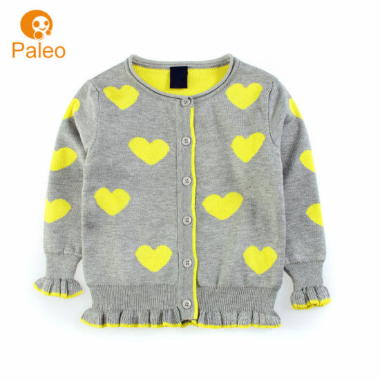 Girls Autumn Cardigan Knitted Sweater Sleeve Long Embroidered  Age 2-12 years