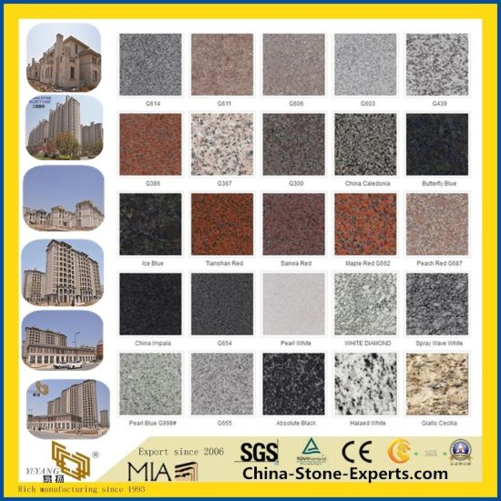 Cheap Polished/Flamed Black/Red/White/Blue/Yellow/Green/Brown/Pink G654/G603/G682/Kasgmir/Juparana/Bahama/Galaxy/Absolute/Countertop/Stone Granite for Wholesale pictures & photos