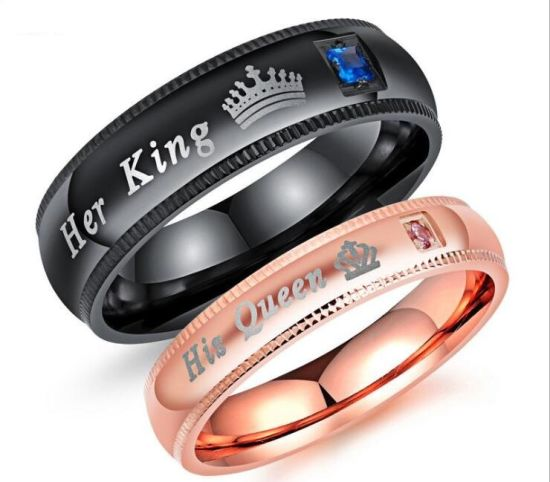 Fashion Accessories Her King His Queen Rings Whole Anium Steel Zircon Wedding Black Friday Deals