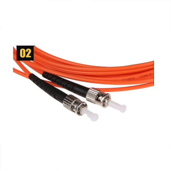 30M Armored Cable Duplex Fiber Patch Cord  LC-ST Pigtail Multi-Mode Cables