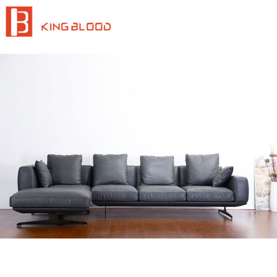 New Italian Modern Sectional Genuine Na Leather Sofa