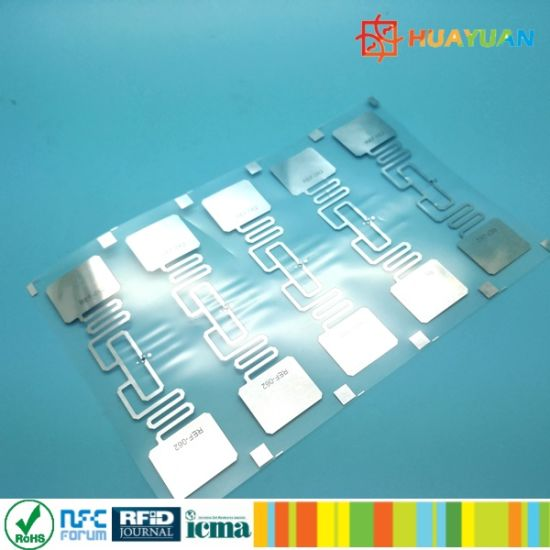 Anti counterfeit Alien 9662 Tamper evident UHF RFID dry wet inlay tag pictures & photos
