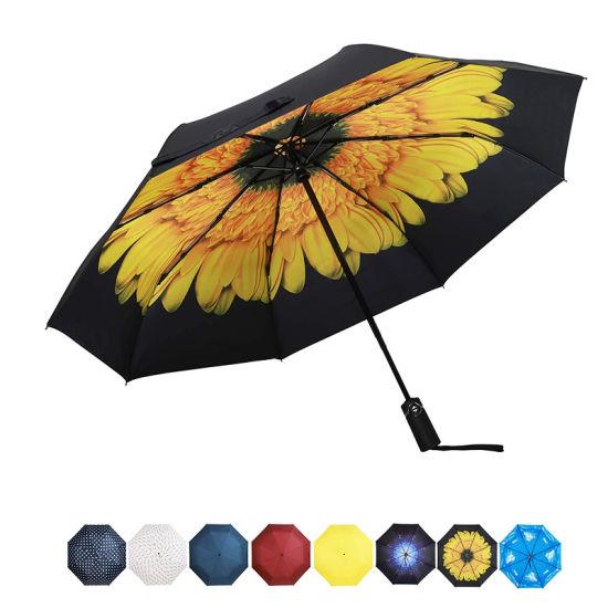 Sunflower Design Folding Umbrella