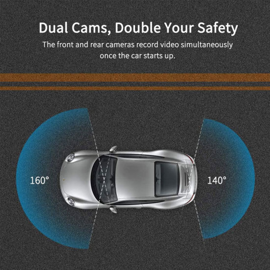 Enhanced Night Vision with Sony Starvis Sensor Mirror Dash Cam for Cars Waterproof Backup Camera Rear View Full Touch Screen Mirror Camera Reversing Assistance Camera