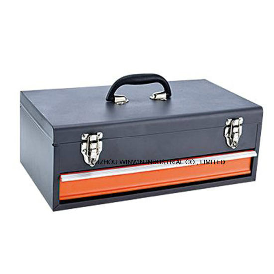 Bon Portable Metal Toolbox With One Slide Drawer (WW TB601A)