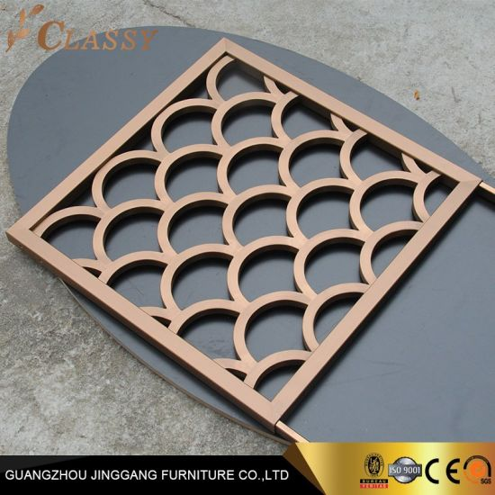 Customized Metal Screen Stainless Steel Laser Cut Partition Screens for Hotel