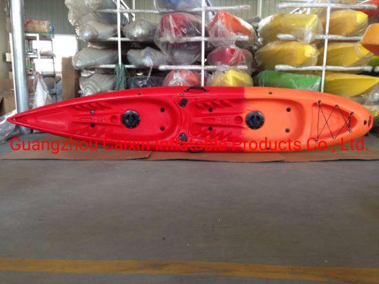 Factory Wholesale Polyethylene 2 Person Used Sit on Top Fishing Kayak Racing Kayak