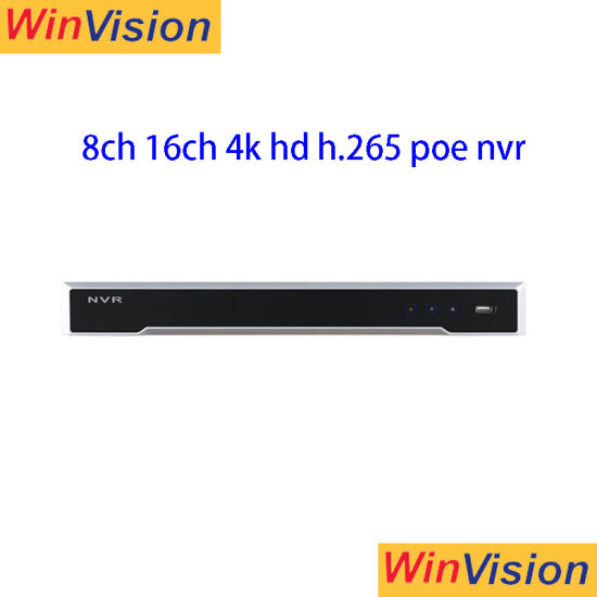 Ds-7616ni-I2/8p and Ds-7616ni-I2/16p Hikvision Original English Version  Network Video Recorder 8CH 16CH 6MP Poe Hikvision NVR