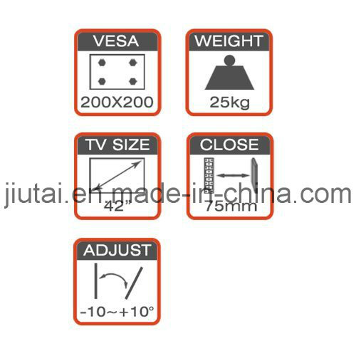 Full-Motion TV Wall Mount Fit for 17-42′′ pictures & photos