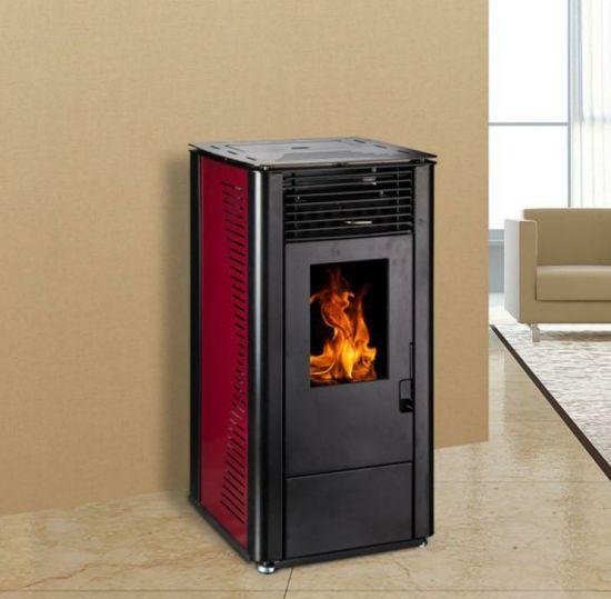China Free Standing Biomass Wood Pellet Stove 8kw Firepace ...