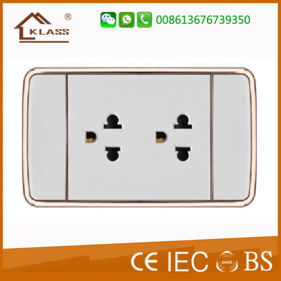 Internet Date Power Wall Socket RJ45 for Network Connector pictures & photos