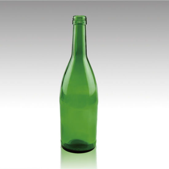 Food Grade Redwine Glass Bottle in Emerald Green Color