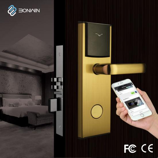 2018 Latest Network RF Card Keyless Door Lock for Hotel Office (BW823SB-T)