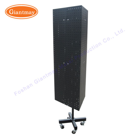 China 40 Sides Pegboard Spinner Rotating Triangle Retail Display New Spinner Display Stands