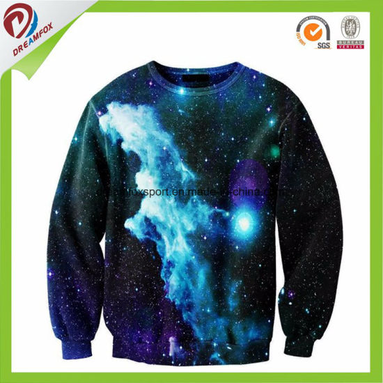 Custom Sublimated Kid Men White Fashion Hoody Jacket pictures & photos