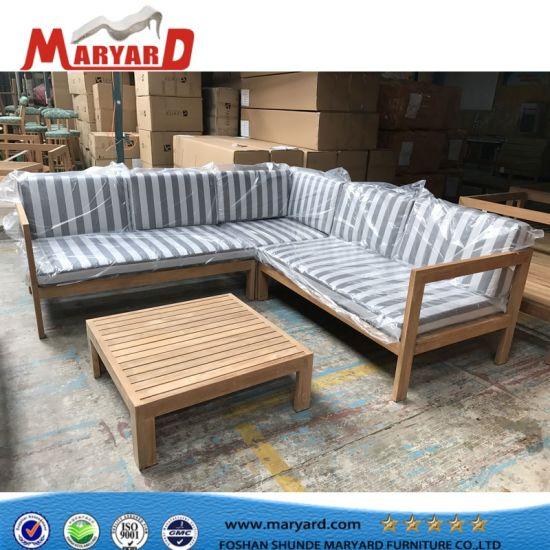 China High Quality Wooden Sofa Set Designs Teak Outdoor Sofa China