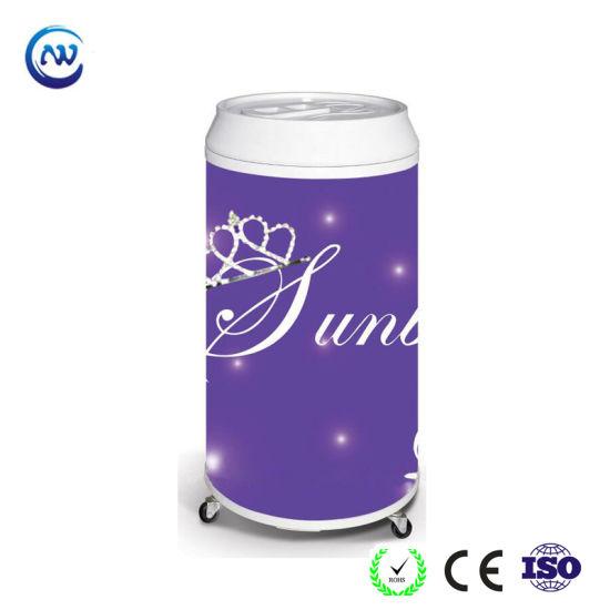 Can Shape Cooler Round Beverage Energy Drink Barrel Fridge (BC-40D)