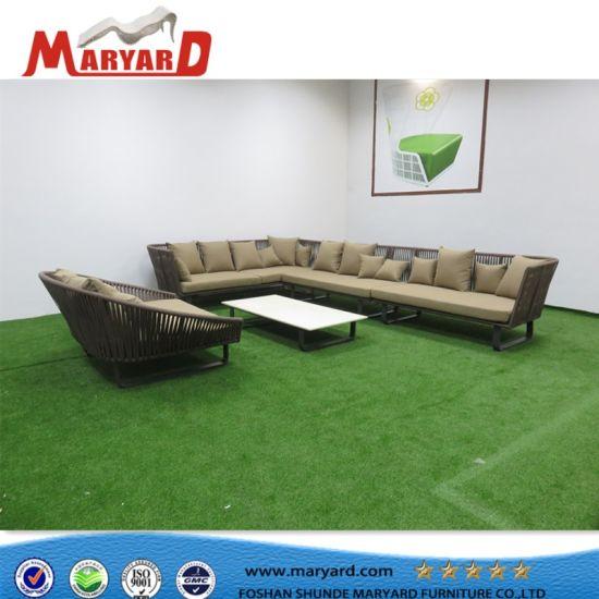 72b65063b0f7 Durable Garden Balcony UV-Resistace Patio Rope Sofa Set Outdoor Furniture  Recliner Sofa