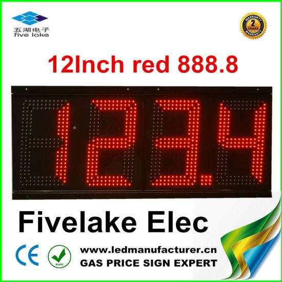 """12"""" LED Gas Station Display (TT30SF-3R-WHITE)"""