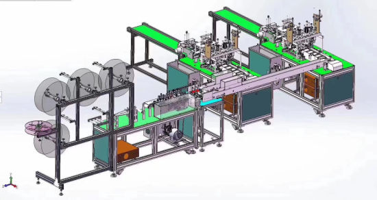 Full Automatic Disposable Surgical Medical Face Mask Making Machine