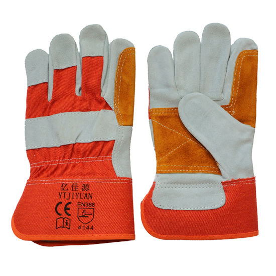 Cow Split Leather Safety Protective Working Gloves with Ce En388 pictures & photos