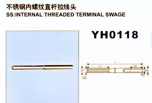 Stainless Steel Internal Threaded Terminal Swage pictures & photos