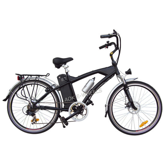 250W Mountain Lithiun Battery Electric Bike with Headlight (TDE-038)