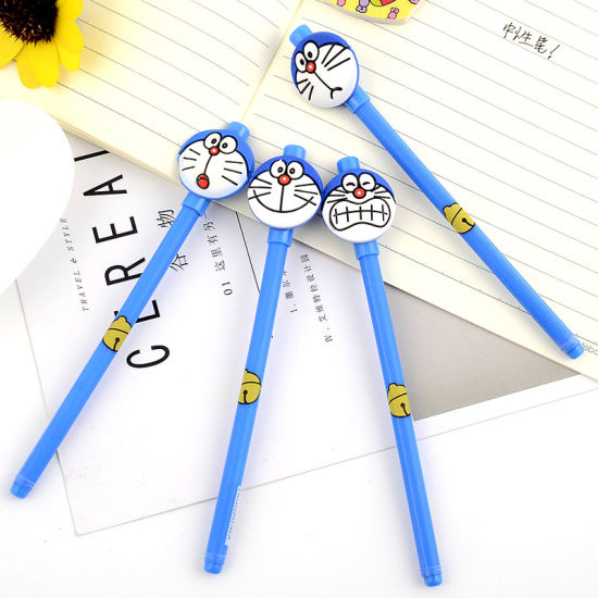 Doremon Stationery Black Ballpoint Anime Gel Pen as Writing Instruments