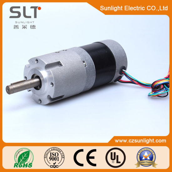 6V 36V High Torque Electric Mini Gear DC Brushless BLDC Motor for Bus pictures & photos