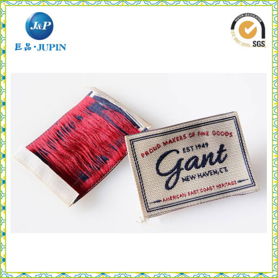 Custom Shoe Private Woven Label with Laser Cutting (JP-CL017)