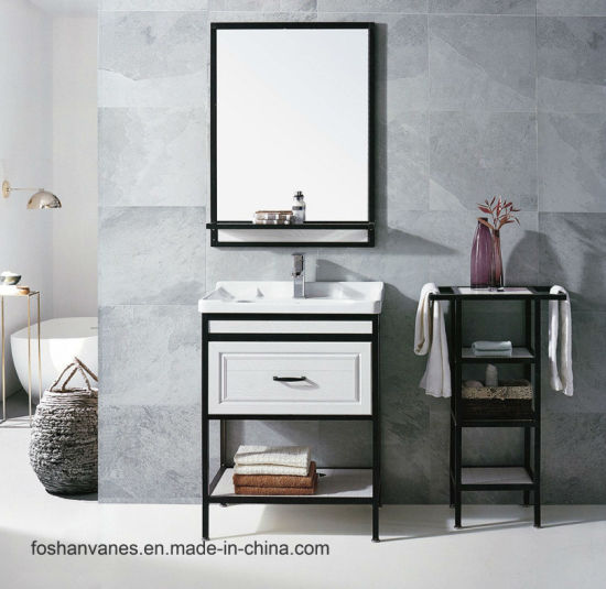 PVC Cabinet Floor Standing Modern Design Bathroom Vanity Sanitary Ware Al-2107