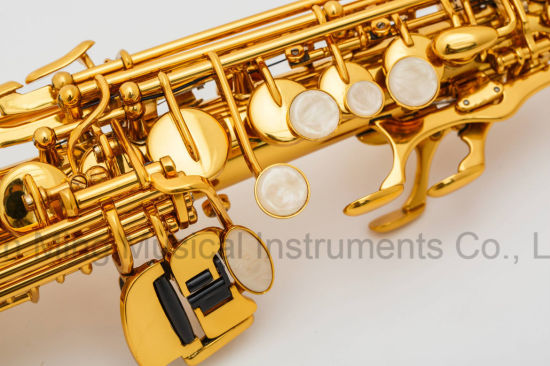 Good Straight Soprano Saxophone Gold Lacquer Manufacturer Cheap Price Wholesales pictures & photos