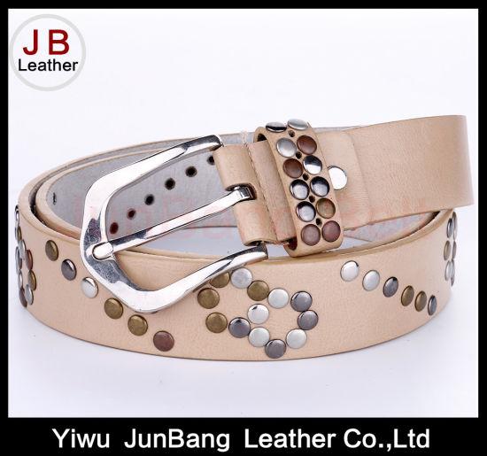 Colorful Metal Rivets Belt for Lady Dress Decoration