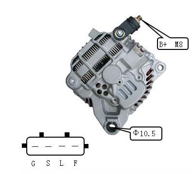 New Alternator Fits for Mitsubishi Lancer Outlander 2.4L Mn183450 A3tg3491 1800A064 pictures & photos