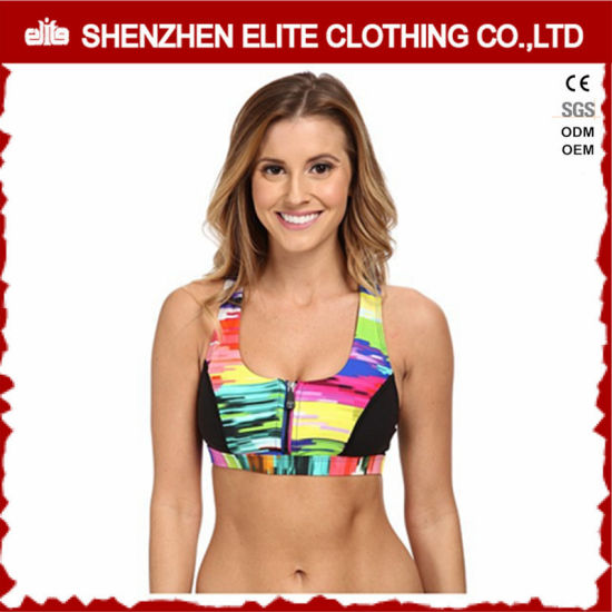 6543e12add China Yoga Sports Women Sexy Nude Sublimation Sport Bra Zip - China ...
