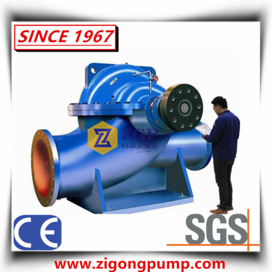 Horizontal and Vertical High Efficiency Duplex Stainless Steel, Cast Iron, Carbon Steel Double Suction Axial Split Volute Casing Case Centrifugal Sea Water Pump