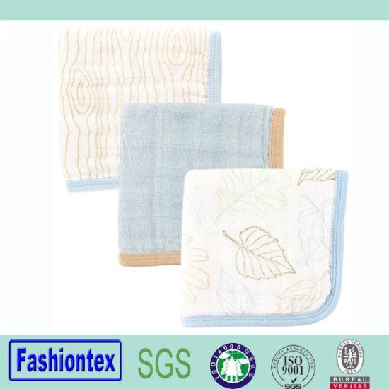 100 Cotton Print Custom Infant Muslin Burp Cloth for Baby
