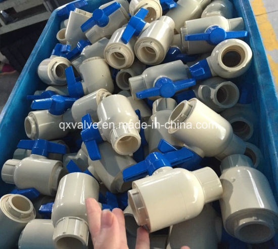 Small CPVC Water Shutoff Pipe Ball Valve for Agriculture System