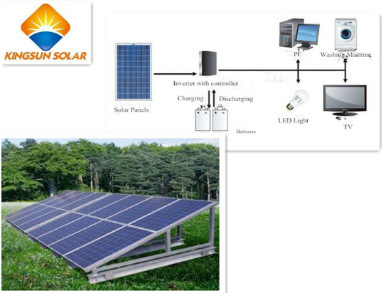 off Grid Solar Home Power System (KSCN5KW) pictures & photos