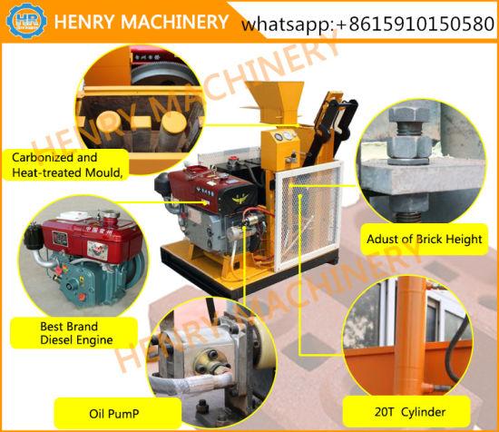 Hr1-25 Diesel Engine Hydraulic Soil Interlocking Brick Making Machine