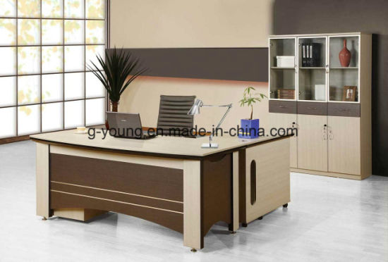 L Shape Modern Wooden Furniture Executive Office Table pictures & photos