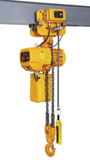 1 Ton Small Electric Chain Hoist Crane with Electric Trolley pictures & photos