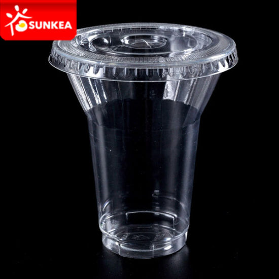 Disposable Plastic Juice Cups and Lids pictures & photos