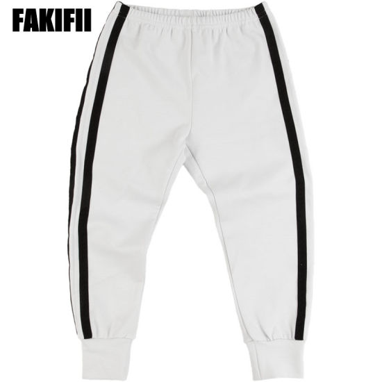 ODM Customised Kids Wear Children Garment Girl Casual White Cotton Knitted Pant Summer Fashion Clothes pictures & photos