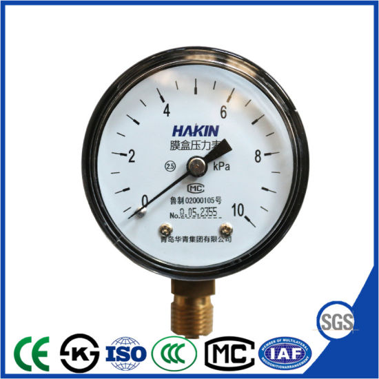Hot Selling Capsule Pressure Gauge Manometer with Factory Price pictures & photos