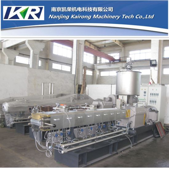 Nanjing Plastic Pellet Parallel Twin Screw Extruder Making Machine pictures & photos