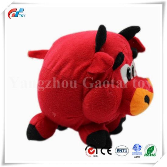 Short Plush Round Shape Soft Pig Animal Toy