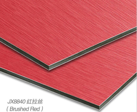 Brushed Red Aluminum Composite Panel Use for Wall Decoration or Shop Front Decoration